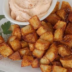 "Chef John's Patatas Bravas | ""These fried potatoes are fiercely textured, fiercely flavored, fiercely presented, and fiercely enjoyed. How fierce is really up to you and your inner Spaniard. There are as many patatas bravas recipes as homes in Spain, and this is nothing more than my latest rendition."""