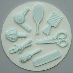 Hairdressing Sugarcraft Silicone Mould