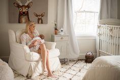 Beautiful newborn baby boy's nursery. Charlotte lifestyle family photography. Photo by: Jody G Photography