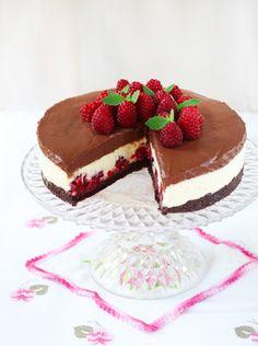 Vaarika-šokolaadikook ‹ Perenaine.ee – retseptid