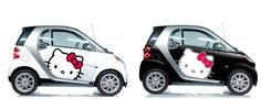 hello kitty smart cars in black and white models