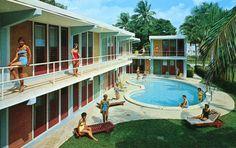A Compendium of Vintage Pool Parties: Beaux-Arts Apartments Fort Lauderdale, FL