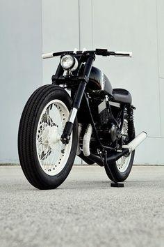 Black & White Custom Motorbike #mens #bike #kysa