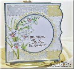 Hop on Over to Power Poppy: New Sets are in the Store! - Running With Scissors... Orchids Rock  stamp set by Power Poppy, card design by Leslie Miller.