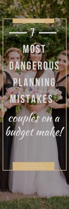 Tryng to plan a wedding on a budget? Then you MUST check out this article on wedding planning mistakes to avoid. It saved me and my fiance's wedding day and it will definitely be a life saver for you if you can't afford a wedding planner! PIN IT NOW! #weddingplanning #budgetwedding #7centerpieces