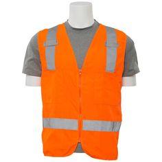S414 M Class 2 Poly Oxford Surveyor Hi Viz Orange Vest, Size: Medium, Oranges/Peaches