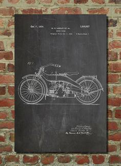 Harley Motorcycle Poster, Harley Motorcycle Patent, Harley Motorcycle Print, Harley Motorcycle Decor, Harley Motorcycle Art