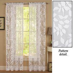 $7.97 each - Leaf Burnout Semi-sheer Curtain Panel
