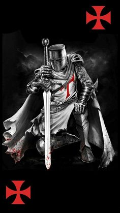 Vikings Warrior is part of Cow Skull tattoos Posts - Cow Skull tattoos Posts Templar Knight Tattoo, Knights Templar Symbols, Vikings, Crusader Knight, Christian Warrior, Warrior Tattoos, Angel Warrior Tattoo, Armadura Medieval, Knight Art