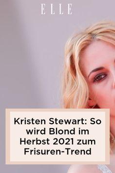 Kristen Stewart hat ihre herausgewachsenen platinblonde Haare gegen Erdbeerblond getauscht. Warum diese Haarfarbe ein Frisuren-Trend ist, auf Elle.de. #beauty #haut #hautpflege #skincare #haare #haarpflege