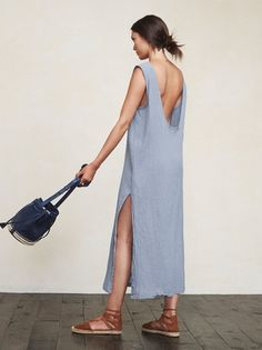 You don't want clingy relationships, and sometimes you don't want clingy outfits either. The Laguna Dress is a lovely, loose-fitting thing that allows fresh air to find you, which is especially pleasant on those warmer summer days. https://www.thereformation.com/products/laguna-dress-mineral?utm_source=pinterest&utm_medium=organic&utm_campaign=PinterestOwnedPins