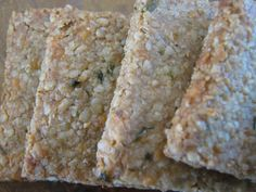 White Cheddar and Chive Crackers via Our Nourishing Roots #grainfree