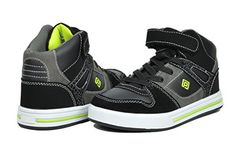 Dream Pairs GLY4108 Boy's Athletic Velcro Strap Light Weight Running High Top Sneakers Shoes Black-Neon-Green Size 1 - http://all-shoes-online.com/dream-pairs/1-m-us-little-kid-dream-pairs-gly4108-gly9297-boys-14