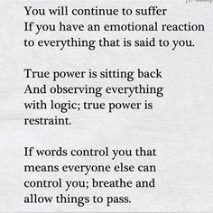 True power is sitting back and observing everything with logic; true power is restraint. | #INTJ: