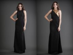 2 in 1 Dress - Black & Gold 21st Dresses, Formal Dresses, Reversible Dress, Black Gold, Dress Black, Cashmere, Silk, Fashion Design, Clothes