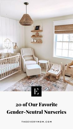 20 of Our Favorite Gender-Neutral Nurseries Twin Nursery Gender Neutral, Bright Nursery, Baby Room Neutral, Neutral Nurseries, Twin Nurseries, Nursery Ideas Neutral, Ikea Nursery, Nursery Twins, Nursery Room Decor