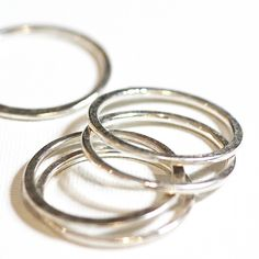 Silver Stacking Rings|Matte & Hammered|Set of 5|Handmade Designer Jewellery