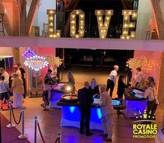 LED VIP casino tables at the Mill Barns #funcasino #millbarnscasino #vegasweddingUK #royalecasinopromotions #weddingcasino