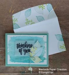Day 5 of The Creative Way brings together a fun watercolor background and the Rooted In Nature Stamp Set!