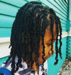 I think Zion's hair looks closest to this. About shoulder length, locs that are about this thickness, and a dark brown or black, with a single white loc near the front of his head, on the right hand side. Boys Haircuts Curly Hair, Boy Braids Hairstyles, Little Boy Hairstyles, Curly Hair Men, Twist Hairstyles, Hairstyles Haircuts, Curly Hair Styles, Natural Hair Styles, Hairstyle Men