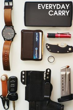 Everything for your Everyday! Make life easier with premium tools to navigate through life.  Before you leave the house make sure you have your... watch, wallet, pocket tools, flashlight...what have you!