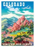 Vintage United Airlines Colorado Poster
