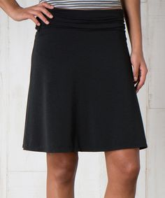 This Black Swifty Chaka Skirt by Toad&Co is perfect! #zulilyfinds