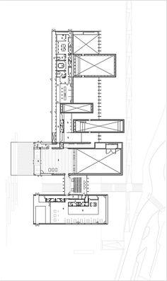 RCR Arquitectes - musée soulages / Entrance level plan