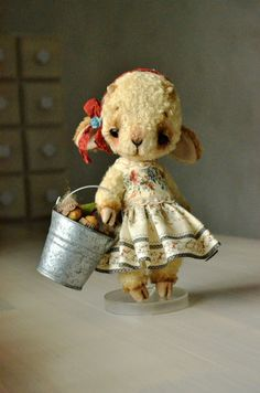 Teddy Bear stile Artist viscose Lamb  Melly 8 by SanaTeddyBears