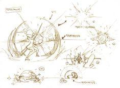Manga Drawing Tips ArtStation - Seung Chan Lee - Animation Reference, Drawing Reference Poses, Drawing Poses, Drawing Tips, Digital Painting Tutorials, Art Tutorials, Explosion Drawing, Character Art, Character Design