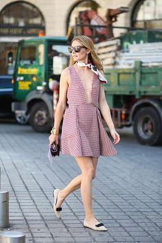 Olivia Palermo wearing the Jimmy Choo GALA flat at Couture Fashion Week