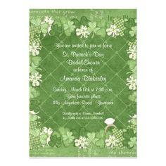 Shamrock Bridal Shower Invitation