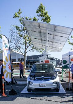San Francisco introduces free, solar-powered electric vehicle charging | An organization called Charge Across Town secured a grant from the 11th Hour Project to set up three of the solar-powered charging stations in locations around San Francisco