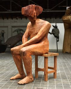 Art from Spain - Francisco Leiro Lois - 1957 Pontevedra. Abstract Sculpture, Wood Sculpture, Contemporary Sculpture, Contemporary Art, Instagram King, Land Art, Wood Carving, Painting & Drawing, Sculpting