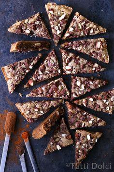 chocolate spiced almond blondies @tuttidolci