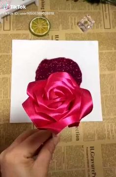 Tipssy Channel(Tipssychannel) On Tiktok: Wah Cantik Yaa Diy Diyflower Rose Roses Romantico - Diy Crafts - knittingo Diy Crafts For Gifts, Diy Arts And Crafts, Creative Crafts, Kids Crafts, Paper Flowers Craft, Flower Crafts, Fabric Flowers, Diy Flowers, Paper Craft