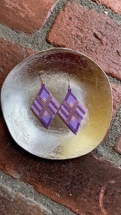 Chubbeadrings Purple Rhombus and Muti Pattern Beaded Earrings By Chubbeadrings by chubbybeadedearrings on Etsy Etsy Earrings, Beaded Earrings, One More Step, Vienna, Beads, Purple, Pattern, Handmade, Accessories