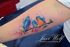 Watercolor birds! Diseño y estilo propio! Cancún te veo en 1 semana!