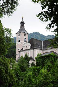 Ebensee-Oberlangbath, Kirche Hl. Josef (Gmunden) Oberösterreich AUT Innsbruck, Salzburg, Bavaria, Austria, Germany, Mansions, House Styles, Cathedrals, Linz