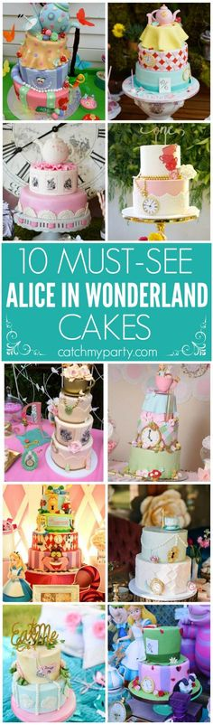 10 Must See Alice in Wonderland Cakes | Catchmyparty.com