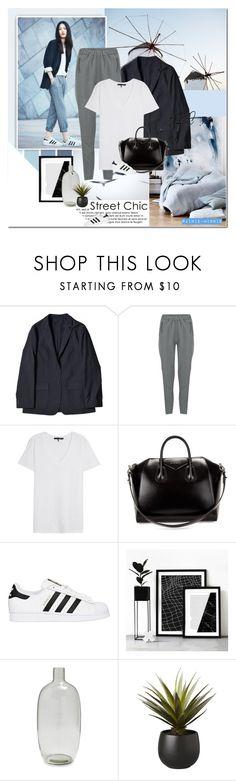 """Street Chic Minimalist"" by rainie-minnie ❤ liked on Polyvore featuring adidas, Vero Moda, rag & bone/JEAN, Givenchy, adidas Originals, Sur La Table and CB2"