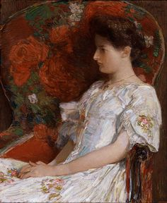 """Childe Hassam - """"The Victorian Chair"""", 1906"""