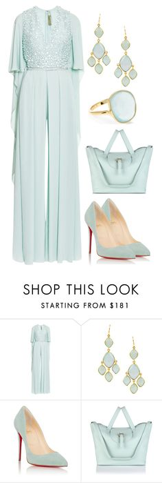 """""""Let The Festivities Continue #59"""" by mscody on Polyvore featuring Elie Saab, Feather & Stone, Christian Louboutin, Meli Melo, Accessorize, party, festive, celebrate and festivities"""