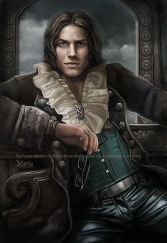 One of my sisters - Vivian's love interest Declan - Commission by *nathie on deviantART *