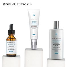 Concerned about skin discolorations and dark spots? Try this comprehensive regimen!    - Phloretin CF prevents environmental damage that can lead to discoloration    - Advanced Pigment Corrector reduces stubborn existing discolorations    - Physical Fusion UV Defense SPF 50 protects against sun damage