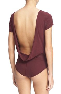 Free shipping and returns on Free People 'Carma' Drape Back Bodysuit at Nordstrom.com. Never fuss over tucking in or smoothing lines in this sleek, fitted bodysuit crafted with a demure crewneck that reveals a draped open back for a flirty finish.