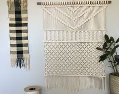 Macrame Wall Hanging Plains by HollyMuellerHome on Etsy