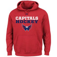 3977106dc Men s Washington Capitals Majestic Red Feel The Pressure Pullover Hoodie  Hockey Gear