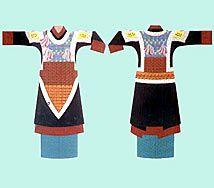 Vestidura empleada por los guerreros de la Etnía Han.