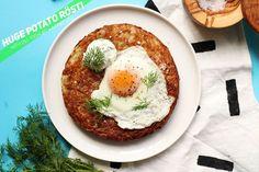 Huge Potato RÖSTI with Dill Yoghurt + a Fried Egg